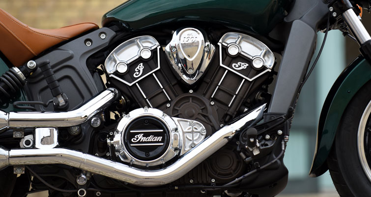 Indian® Scout - MOTOR V-TWIN DE 1.133 CILINDRADAS
